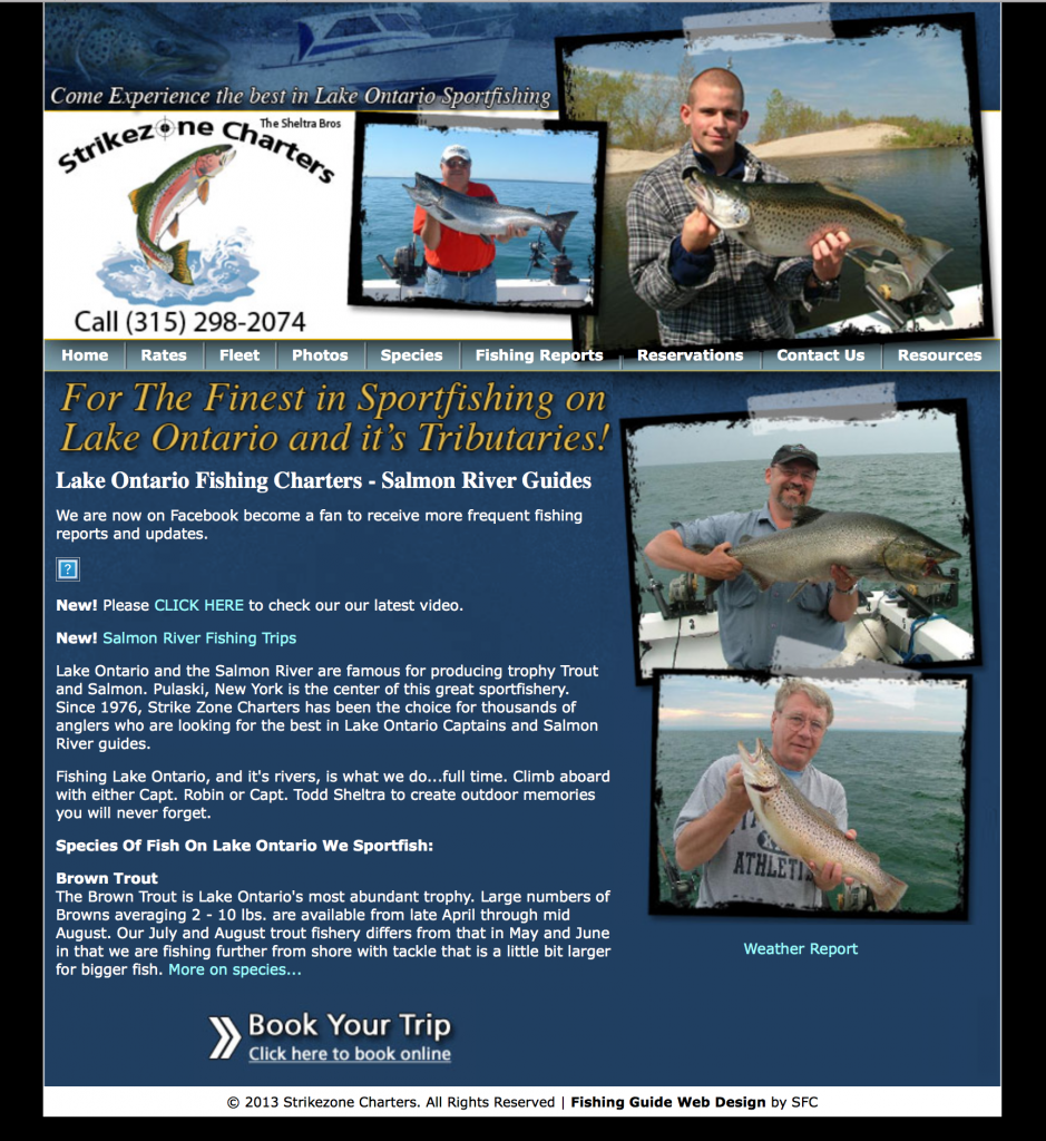 Fishing Guide Website Design