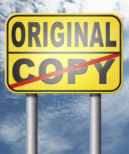 Be Original, Don't Copy.