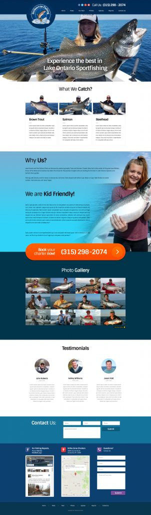 Fishing Guide Web Design