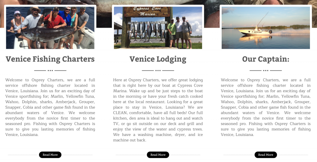 Developing A Fishing Website