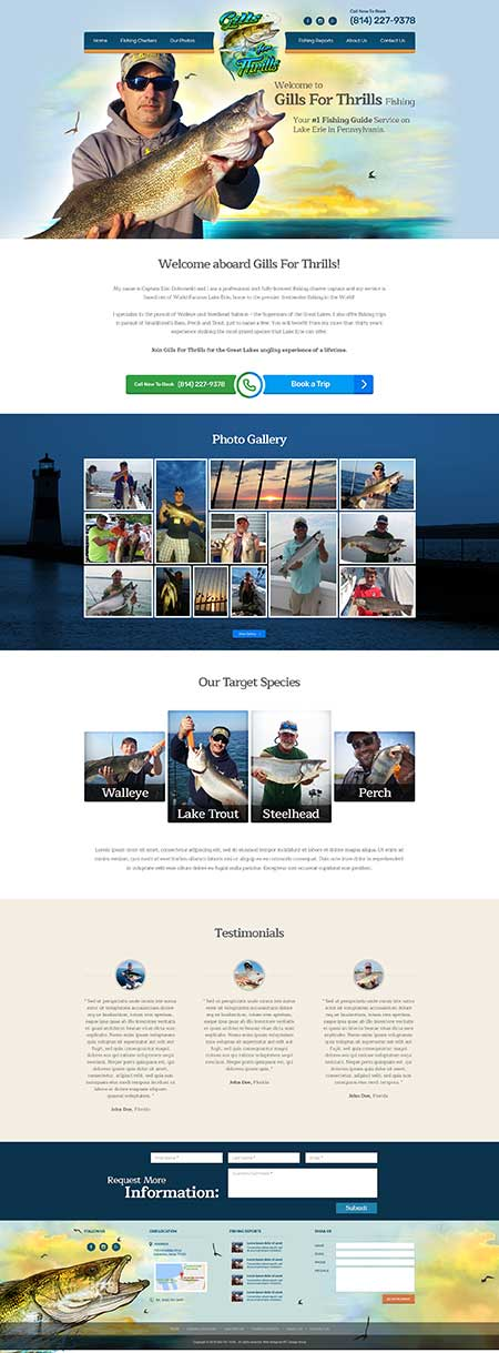Charter Fishing Web Template